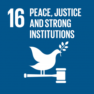 SDG 16, Peace, Justice and Strong Institutions