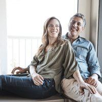 Jessica Jackley and Reza Aslan (Photo by Shayan Hathaway)